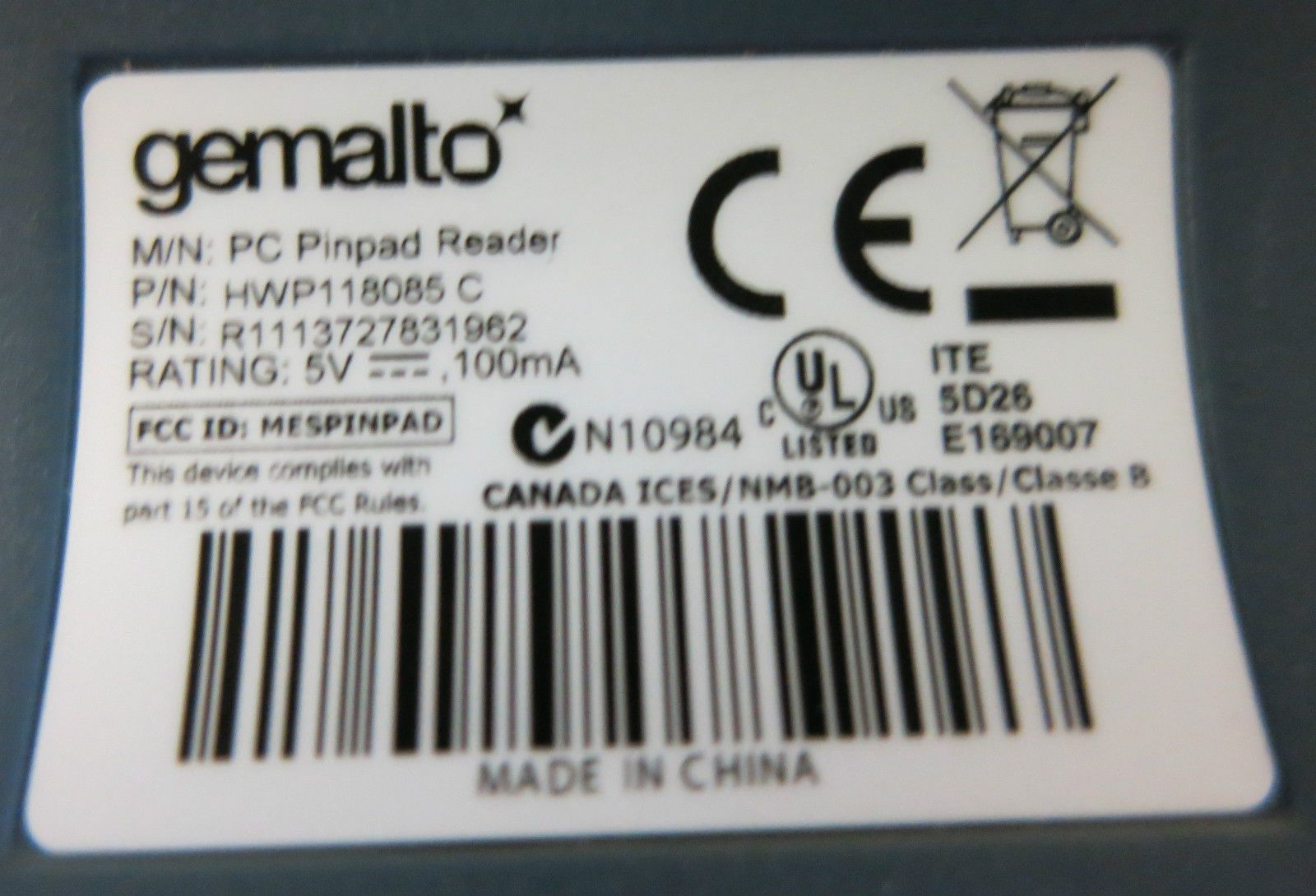 GEMALTO PC PIN PAD WINDOWS 10 DRIVERS
